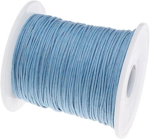perlin 75 m encerados algodón encerado cordón azul 1 mm joyas cordones Cera hilos Ideal para bisutería, c164: Amazon.es: Juguetes y juegos