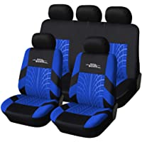 AUTOYOUTH Car Seat Covers Universal Fit Full Set Car Seat Protectors Tire Tracks Car Seat… photo