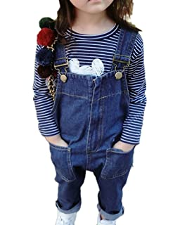 c858aeb2a36 LaoZanA Baby Girl and Boys Dungarees Denim Jumpsuit One Piece Pants Jeans  Bib Overalls