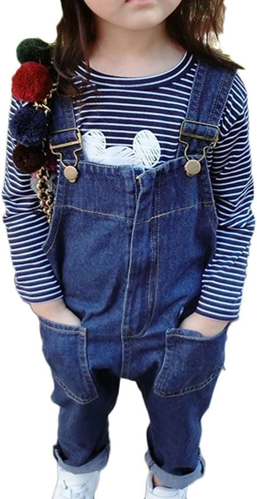 M/ädchen Kinder Freizeit Jumpsuit Jeans Latzhose Overall Einteiler Onesie Jeanshose Mit Latz