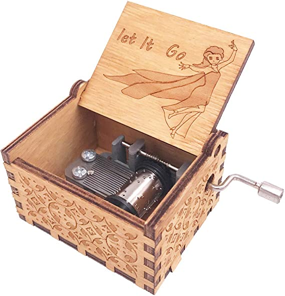N Let it be A Wood/Music/Box/-Let It Be Classic Handcrank Carved Wood Musical Gifts/for Friends/Birthday//Christmas//Valentines/Day