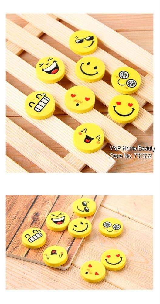 120 pcs/Lot Smile face Erasers rubber for pencil funny cute stationery Novelty eraser Office supplies by PomPomHome (Image #5)