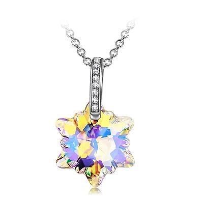 f82e444d2068 DISSONA collares colgantes mujer cadena de plata Cristal de ...