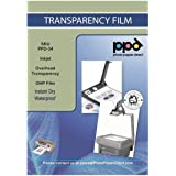 PPD Inkjet Premium Clear Translucent Milky for vibrant OHP Acetate Transparency Film/Screen Print Film Instant Dry (Overhead
