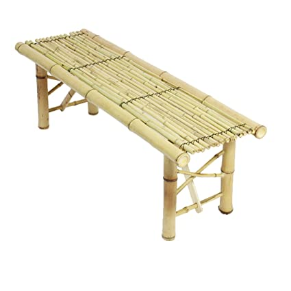 Fabulous Prosource Fit Tiki Bamboo Bench Tropical Coffee Table For Patio Bar Theyellowbook Wood Chair Design Ideas Theyellowbookinfo