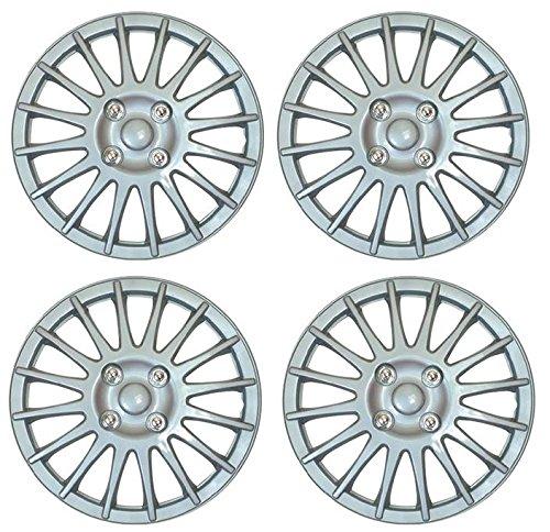 UKB4C Set of 4 14 Silver Wheel Trims//Hub Caps fits Fiat 500