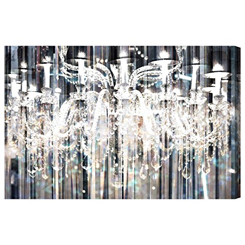 Diamond Shower' Contemporary Canvas Wall Art Print for Home Decor and Office. The Fashion Wall Decor Collection by The Oliver Gal Artist Co. Gallery Wrapped and Ready to Hang. 36x24 inch by The Oliver Gal Artist Co.