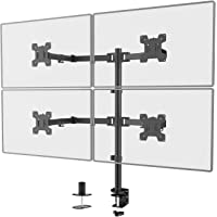 WALI Quad LCD Monitor Desk Mount Fully Adjustable Stand Fits 4 Screens up to 27 inch, 22 lbs. Weight Capacity per Arm…