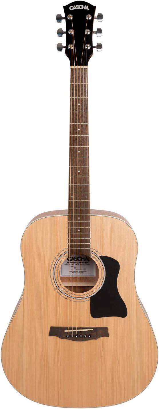 CASCHA Guitare Acoustique Western Guitar Pour D/ébutants /& Joueurs Avanc/és Dreadnought Cordes DAcier Incluant 3 M/édiators