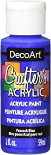 product image for DecoArt Crafter's Acrylic Paint, 2-Ounce, Peacock Blue