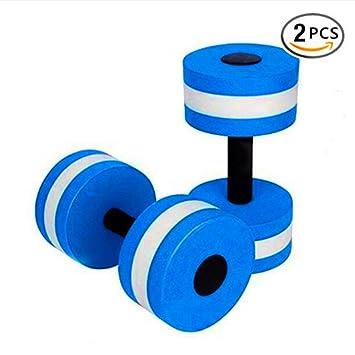 BigBoss - Mancuernas para ejercicios acuáticos, 2 unidades, para ejercicios aquagym o ejercicios aeróbicos en el agua - Aquatic2, Large, Azul: Amazon.es: ...