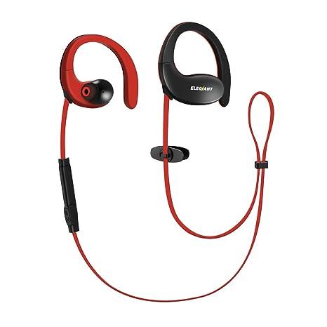 ELEGIANT Auriculares Deportivos Impermeables IPX5 Bluetooth 4.1 Inalámbricos de Sonido Bass Estéreo hasta 12 horas de