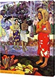 """This 17"""" x 23"""" premium gallery wrapped canvas print of Ia Orana Maria Hail Mary by Paul Gauguin is meticulously created on artist grade canvas utilizing ultra-precision print technology and fade-resistant archival inks. This magnificent canvas print ..."""