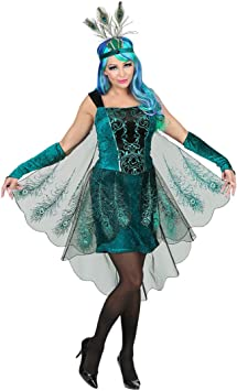 NET TOYS Maravilloso Disfraz de Pavo Real para Dama | Turquesa ...