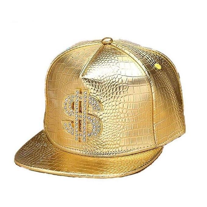 CGXBZA Logotipo del Dólar Dorado De Gorras De Béisbol De Piel ...