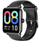 LETSCOM Smart Watch for Android Phones Compatible with iPhone, 1.55 Inch Touch Screen, Fitness Tracker with Heart Rate Monito