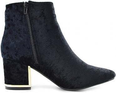 88331ba72c8 Ladies Floral Print Multi Colour Ankle Boot Block High Heel Celeb Shoes