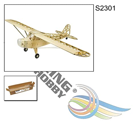Aircraft S2304B 2019 Upgrade Balsa wood Electric Airplane 1 2M Piper