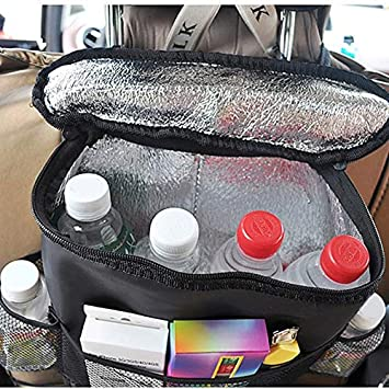 1 Large Mesh Bag,2-USB Multifunctional Premium Oxford Cloth Travel Car Storage Bags with Foldable Tray Tissue Box Qiopes Car Backseat Organizer 3 Phone Bag,2 Snack Bags,2 Water cup Umbrella Bag