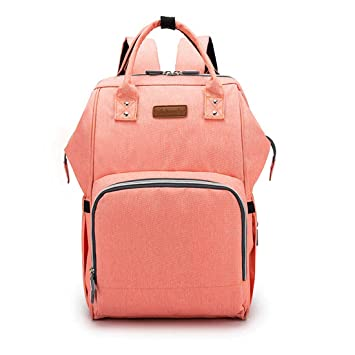 fa54e737b5c9 Amazon.com   Diaper Bag Backpack for Mom Multifunction Travel Large  Capacity Organizer Waterproof with USB Charging Nappy Mommy Bag (Orange)    Baby