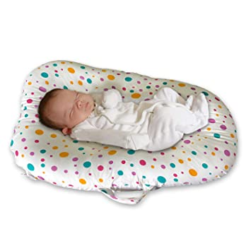 Baby Lounger Bed Bassinet For Baby Shower Gift Portable Infants Crib For 0 6 Months Cotton Removable Cover Flame Resistant Filling By Ygjt