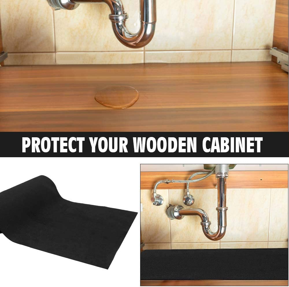 24 X 60 Inches Black Aibob Under The Sink Mat Waterproof Shelf Liner Mats For Kitchen And Bathroom Sinks Durable Thicker Mats Protects Cabinets Under Sink Organizers Cabinet Drawer Organization Rayvoltbike Com