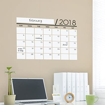 2018 Calendar Decal Dry Erase Vinyl Wall Calendar Decal with Extra Years by Simple Shapes  sc 1 st  Amazon.com & Amazon.com: 2018 Calendar Decal Dry Erase Vinyl Wall Calendar Decal ...
