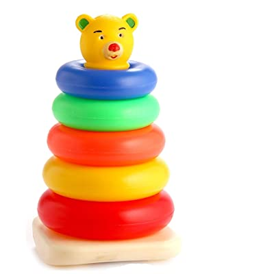 Storite Rainbow Color Rock and Rings Stack/Rock-a-Stack Musical/Educational/Toys for Gift Set for Children(6month-5years Old): Toys & Games