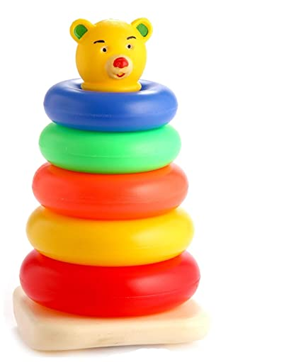 Wooka Lion Stacker Toy Wooden Rainbow Ring Stacker Educational Toys Baby Toddler Wide Selection; Toys For Baby