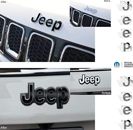 Emblem Do it Yourself Stickers Set Personalize Your Jeep IPG for Jeep Compass MP 2017-2020 Front and Rear Emblem Overlay Decal Stickers