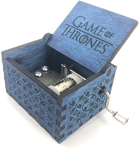 Cuzit Caja musical de madera con manivela de mano, diseño de juego de tronos: Amazon.es: Hogar