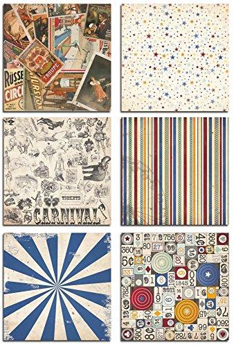 Bo Bunny - Carnival 12x12 Bonus Paper Bundle