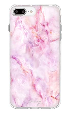 best service e5575 bda30 Casery iPhone 8 Plus, iPhone 7/6 Plus Case, Fantasy Marble (Pink Stone) -  Premium - Military Grade Protection - Drop Tested - Protective Slim Clear  ...