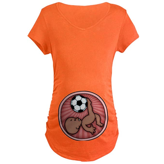 1992440f27c01 Image Unavailable. Image not available for. Color: CafePress Soccer Baby  Kick -DS Cotton Maternity T-shirt ...