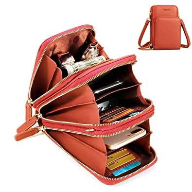 804703114e3dc Disumos Women Solid Faux leather Muti-Pocket Clutches Bag Card Bag Phone Bag  Crossbody Bag