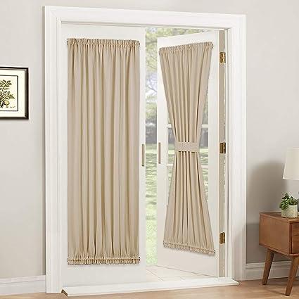 Amazon.com: PONY DANCE Door Curtain Panel - Room Darkening Rod ... on