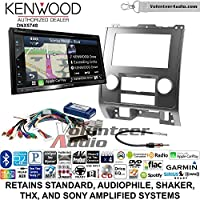 Volunteer Audio Kenwood DNX574S Double Din Radio Install Kit with GPS Navigation Apple CarPlay Android Auto Fits 2008-2012 Ford Escape, Mazda Tribute, Mercury Mariner