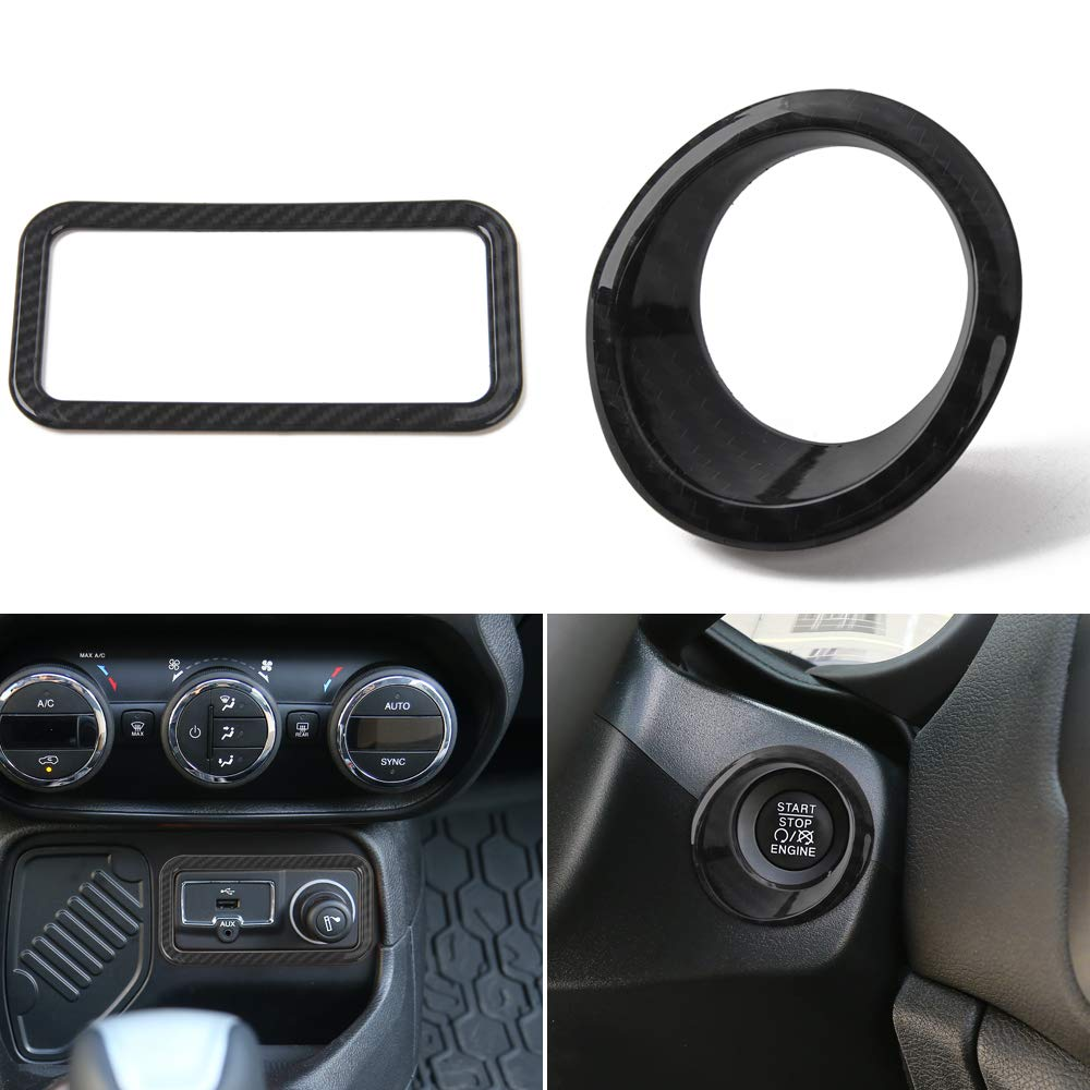 JeCar Center Console Dashboard Control Panel Cover Trim for 2018 2019 Jeep Renegade 5Pcs Silver