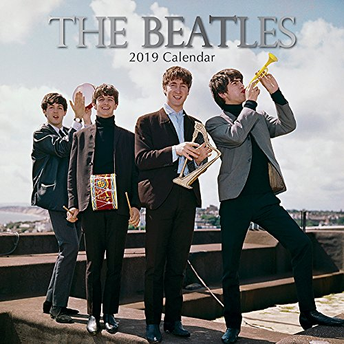 2019 Wall Calendar - The Beatles Calendar, 12 x 12 Inch Monthly View, 16-Month, Famous 60s 70s Band Icon, Includes 180 Reminder Stickers