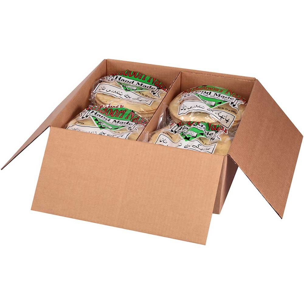 Kronos Frozen Flat Bread Original Halal Naan Pita, 8 inch Tandoori - 96 per case.