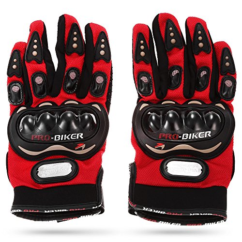 PRO-BIKER MCS-01C One Pair Full Finger Wear-Resistant Safety Protective Bike Bicycle Motorcycle Racing Gloves