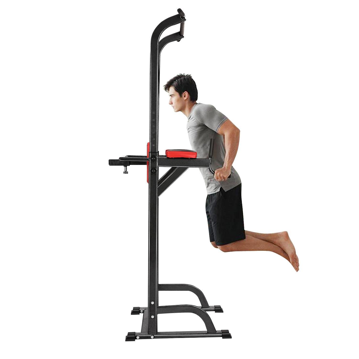Adjustable Pull Up Chin Up Bar,Pull Up Stand Power Tower Strength Power Tower Fitness Workout Station by Rapesee (Image #3)
