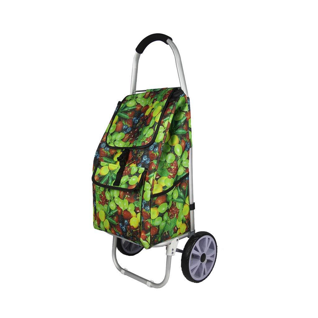 ショッピングカートショッピングトロリーショッピングバッグトロリー荷物カート食料品の折り畳み式カート軽量トロリー旅行 B07KG77SNW