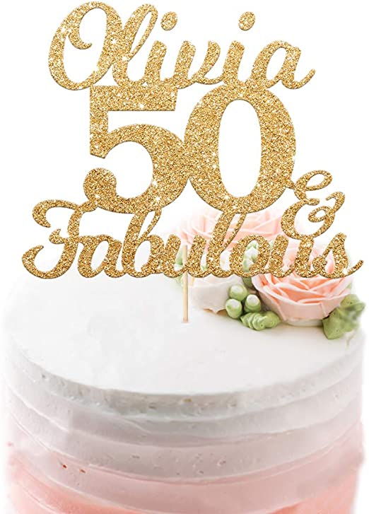 Fabulous Edsg Personalised Happy Birthday Cake Topper Custom With Any Funny Birthday Cards Online Alyptdamsfinfo