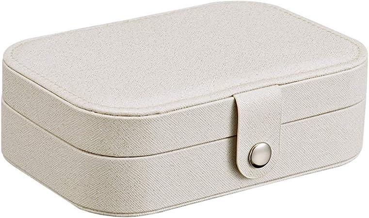 Cajas para Joyas Estuche de almacenamiento cuero de la joyería pequeña caso del recorrido de la PU for los anillos pulseras pendientes del collar Organizador de Joyas y Almacenamiento: Amazon.es: Hogar