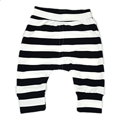 1eaa20bac409 Amazon.com  Ding Dong Baby Boys Girls Striped Pants  Clothing
