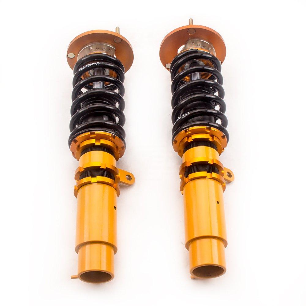 M3 Or 330i 320ci 323ci 318ci 320i 325ci 318i 325i maXpeedingrods Kit de suspension complet combines filetes amortisseurs pour BMW E46 1998-2006 316i 328ci 330ci 323i 328i 316ci