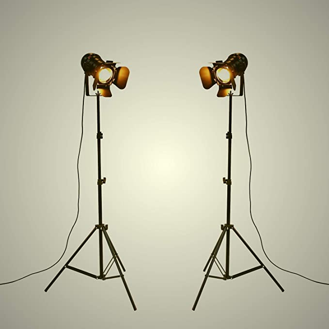 YUENSLIGHTING Industrial Vintage LED Lámpara de pie No regulable ...