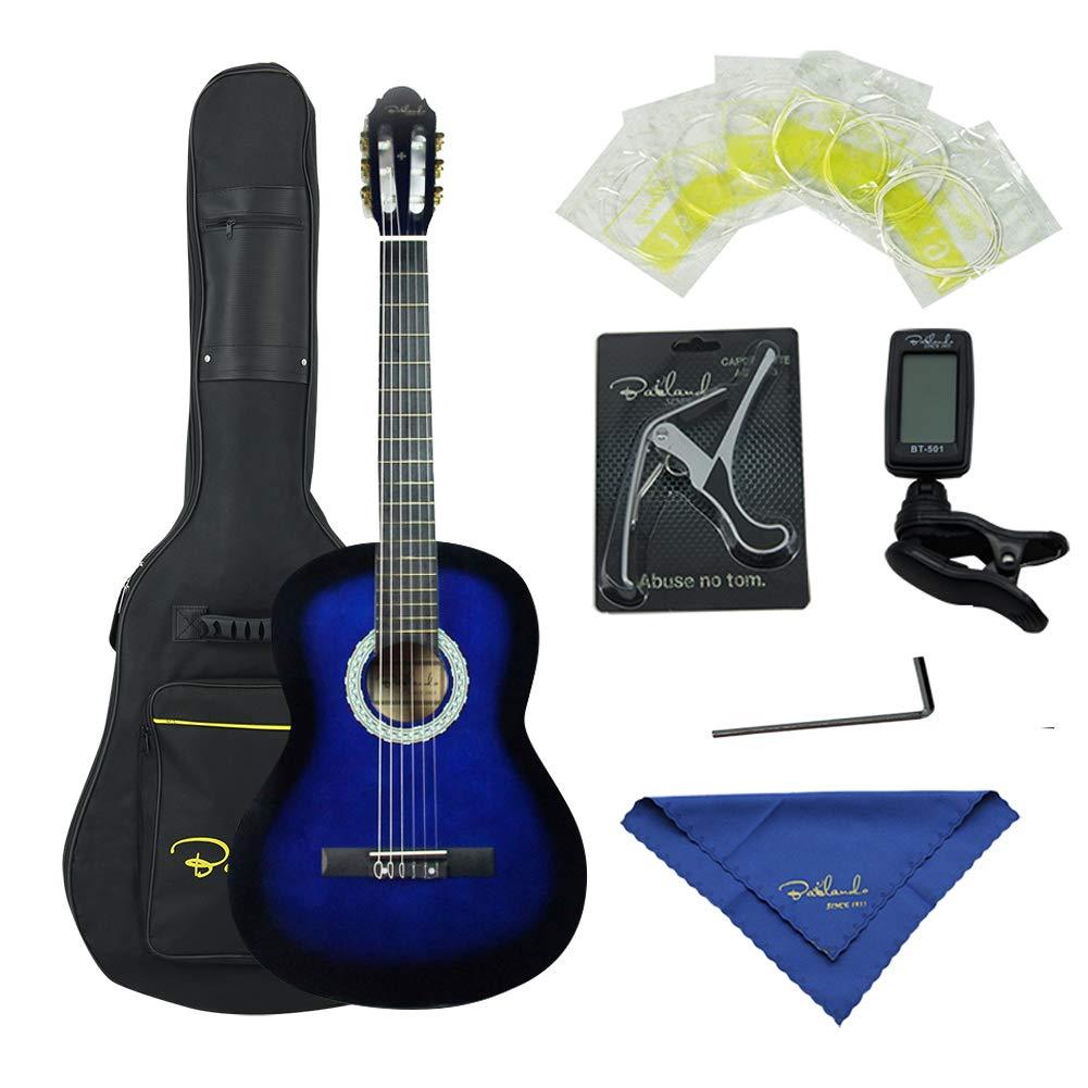 Bailando 39 Inch Classical Guitar, Full-Size Nylon Strings Student Beginner Guitar - Blueburst