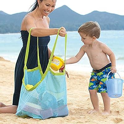 DIRK Beach Mesh Tote Bag Beach Toys Bag Children's Toys Store Bag: Clothing